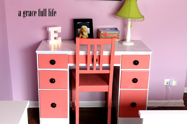 little girls room coral desk