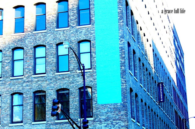 Blue Stripe Building Chicago