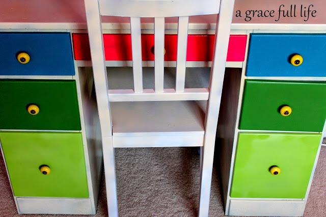 rainbow desk