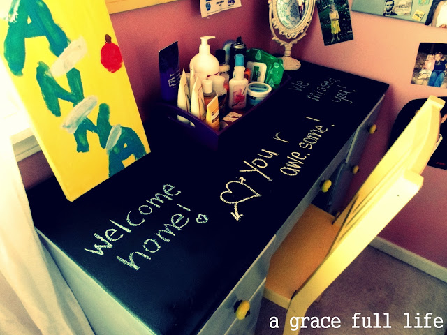 Chalkboard Desk for Anna's room
