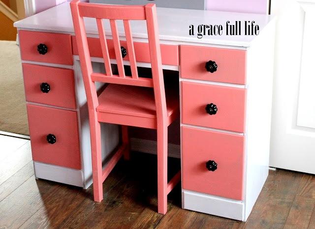 little girl's coral desk