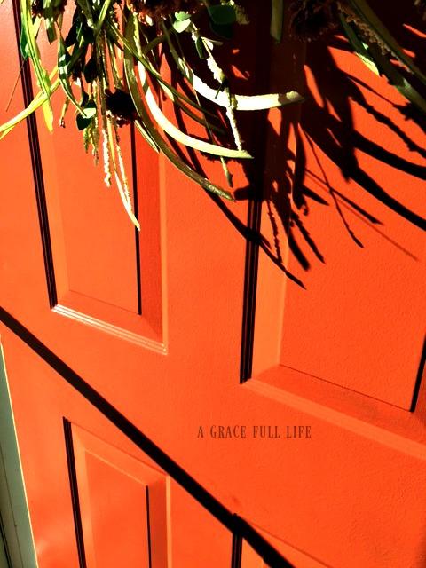 spicy hue on front door