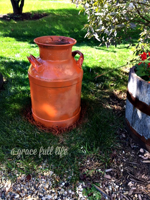 Rust Color Milk Can