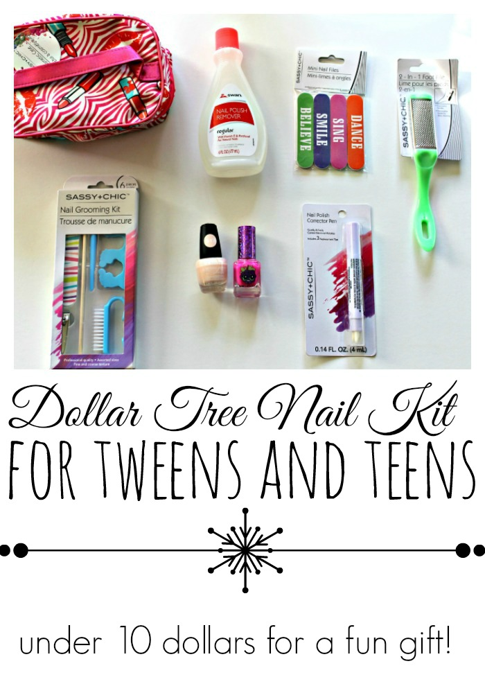 Dollar Tree Nail Kit for Tweens and Teens