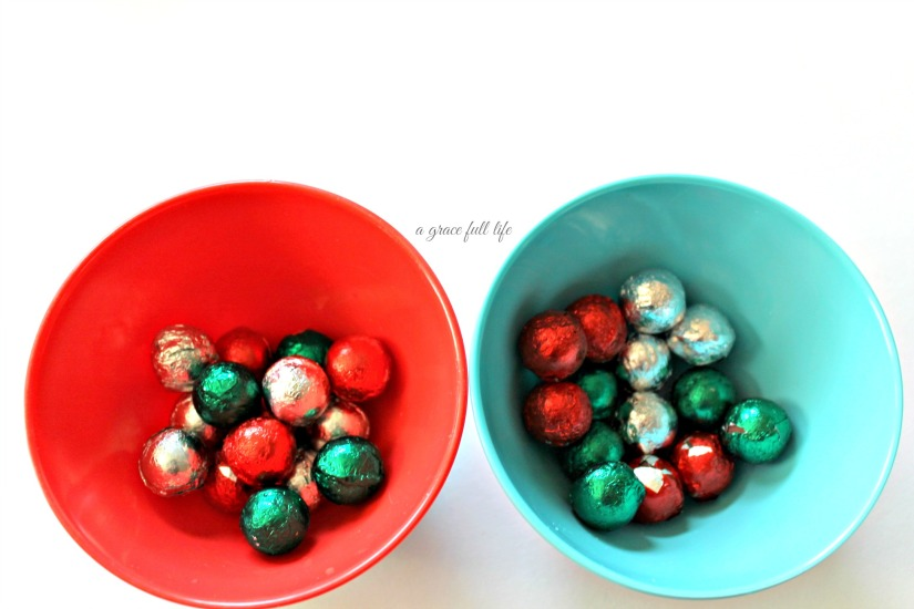 I also wanted to add little chocolate balls to the well, balls