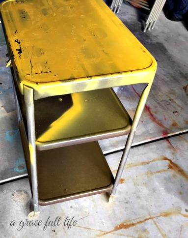 The metal cart that met my eyes in the garage