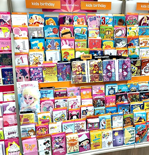 #shop, birthday cards, girls. American Greetings, Meijer
