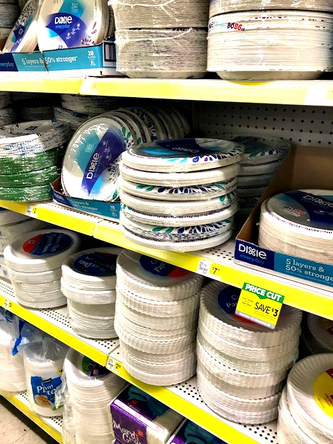 Dollar General, shop, ad, Christmas, paper plates