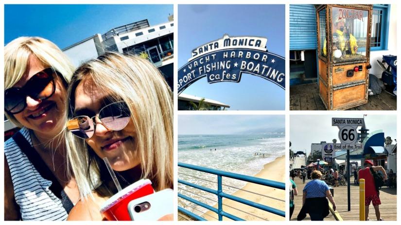 santa monica pier, california, la, hollywood, travel