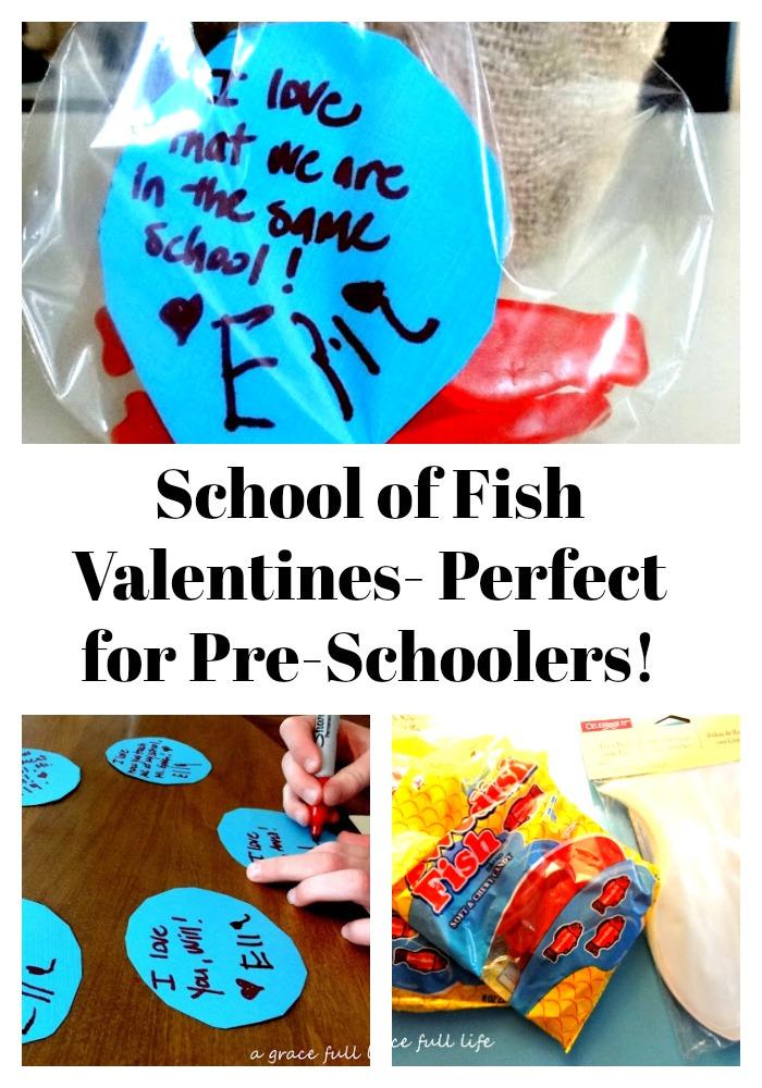 School of Fish Valentines- Perfect for Preschoolers!