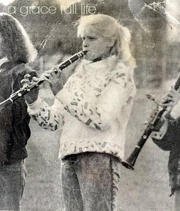 playing clarinet marching band 1987 Lexington Ohio